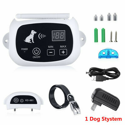 1Electric Wireless Dog Fence No-Wire Pet Containment System Rechargeable US
