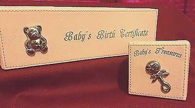 Vintage Pink Baby Memory boxes~Treasure Box/ Birth Certificate Box/Silver