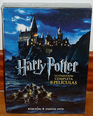 Harry Potter Collection Complete 8 DVD Sealed New Fantasia (Sleeveless Open