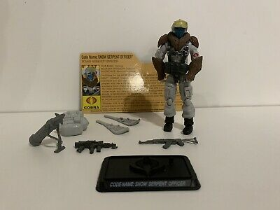 GIJOE 25TH ANNIVERSARY SNOW SERPENT TROOPER V8 100/% COMPLETE WITH FC LOT 63