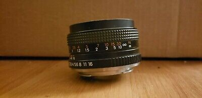 YASHICA ML 50mm 1:2 LENS for Yashica 35mm SLR Cameras -- made in Japan