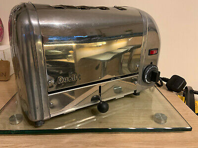 """**Dualit Classic 4 Slice Toaster """"4 Bread"""", Polished, Pat Tested**"""