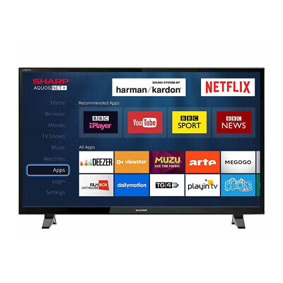 Sharp 40'' Inch LED Full HD Smart TV 1080p with Freeview Play HD, Netflix & WiFi