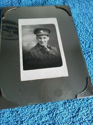 Genuine Art Deco Mirrored Photo Frame & Chain Wall / Table Soldier Picture 1930s