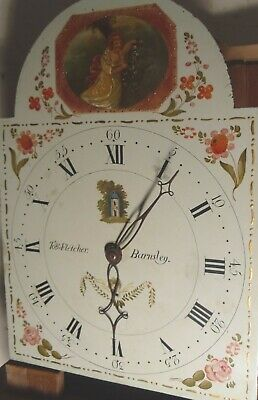 "Antique  Pine Painted Dial  ""  Barnsley  ""   Grandfather / Longcase Clock"
