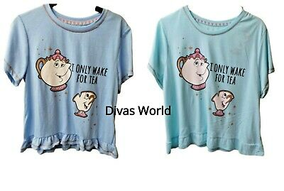 Primark Disney BEAUTY AND THE BEAST MRS POTTS CHIP CUP Ladies Girls Pyjama Top