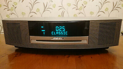 Bose Wave Music System AM FM CD Remote in Titanium Silver