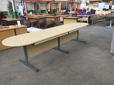 Narrow 2 Piece Boardroom Table, Meeting, Conference, Office, 360 X 80 Cm