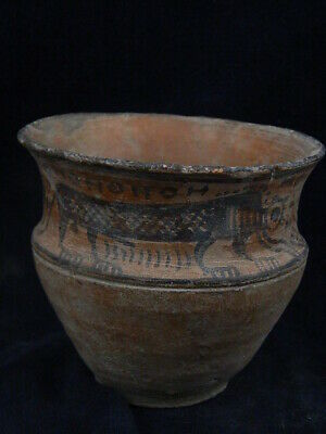Ancient Large Size Teracotta Painted Pot With Lions Indus Valley 2500 BC #PT219