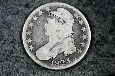 Estate  Find 1824  Capped Bust Half Dollar  #D22446