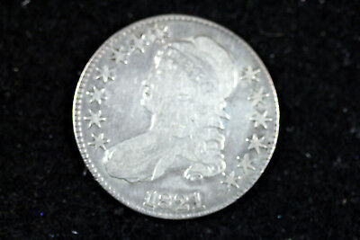 Estate  Find 1821  Capped Bust Half Dollar  #D15754