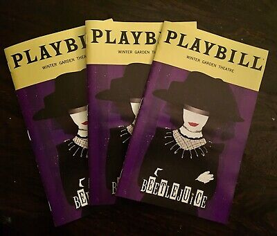 THREE LYDIAS! Beetlejuice Broadway January 2020 Exclusive Playbill Pack of 3