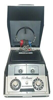 Beltone Audiometer Model # 9 Calibrated To ANSI Values Headphones Tested