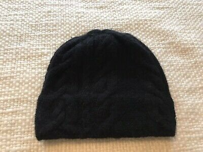 Gap Womens One Size Black Cableknit Wool And Angora Beinie
