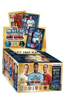 Topps Match Attax 2019/20 - Full Display Box -Trading Card Game - 50 Packets