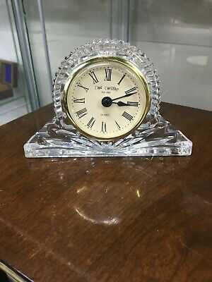 Lovely Napoleon Shaped Lead Crystal Quartz Mantle Clock W.Widdop Good Working Or