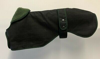 Greyhound / Whippet / Lurcher Quality Wax Cotton Dog Coat. Made In The Uk.