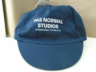 PAS NORMAL STUDIOS Cycling Cap Black Made In Italy 100/% Cotton BNWT/'s Imported