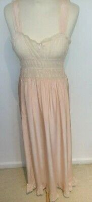 Vintage 1930s 40s Nightdress Night Gown utility Deco Original Lacey full length