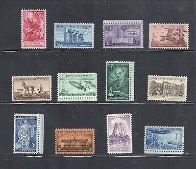 1956 - Commemorative Year Set - US Mint Stamps -a