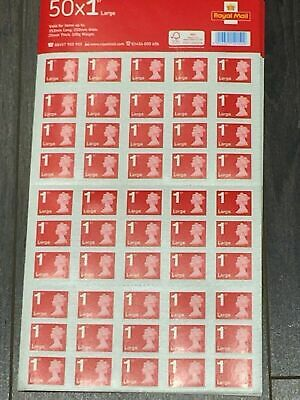 100 x Large Letter 1st Class Self-Adhesive Stamps Royal Mail Value £106 Lot 2