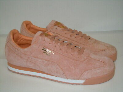 Womens Puma Suede Classic Velour Pink//White Trainers RRP £79.99