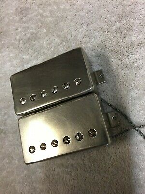 Gibson Burstbucker 3 / 2 humbucker pickup set raw nickel