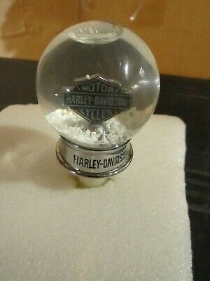 Harley Davidson Wine Liquor Bottle Stopper with Snow Globe Top
