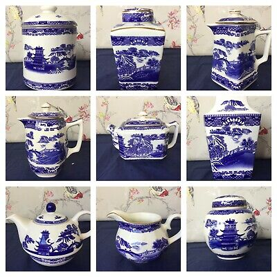 Choice Of Ringtons Ware Blue And White  Willow Story