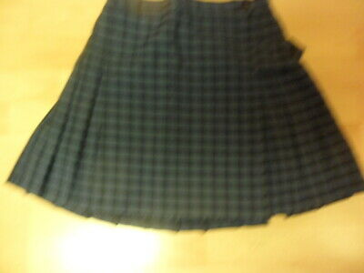 Girls/ Ladies Netball/ Games Skirt/ Dressing Up Blue Check Waist 28""