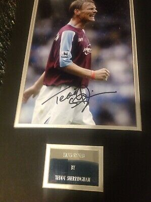 Teddy  Sherringham Signed And Mounted Photo With Engraved Plate