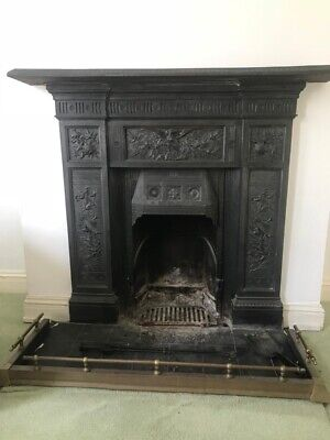 Victorian Original Cast Iron Fireplace - we have two matching (sold separately)