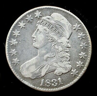 1831 Capped Bust Half Dollar |  *Silver*  -Very Fine-   *204