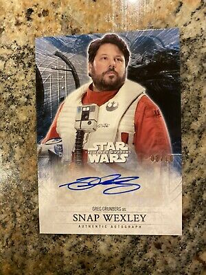2016 Topps StarWars 4 /10 Auto Wexley The Force Awakens Series 2 Sp Grunberg