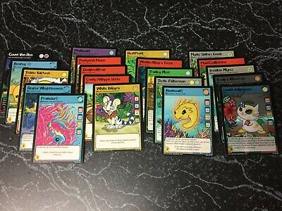 Neopets Original TCG Card Lot of 20 cards: 3 Promo Cards and 2 Holo cards