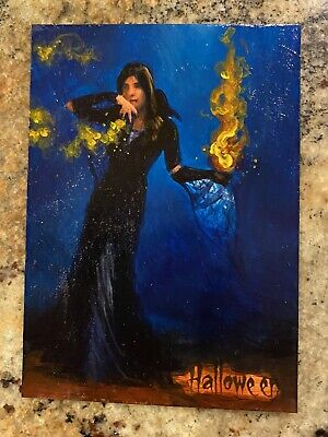 2014 Witch 1/1 Sketch Card Ingrid Hardy Sp Halloween 2 Trick Or Treat