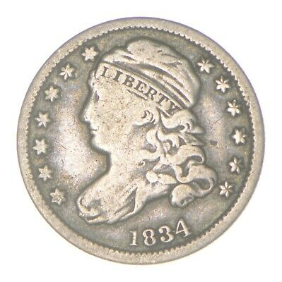 EARLY - 1834 - Capped Bust Dime - Eagle Reverse - TOUGH - US Type Coin *330