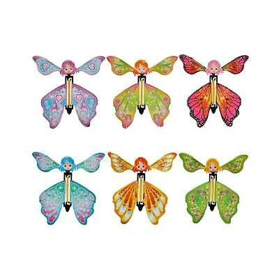 Magic Butterfly Flying Paper Card Toy Rubber Band Butterfly Fairy Toy Trick #Z