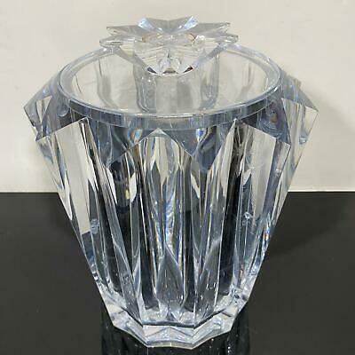 Vintage Star Faceted Mid Century Modern Lucite Acrylic Art Ice Bucket Deco