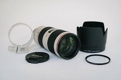 Canon EF 70-200mm f/2.8 L IS II USM Lens w/ Caps, Lens Hood, Collar, & Filter