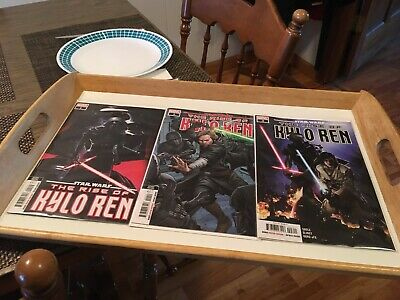 Star Wars: The Rise Of Kylo Ren  #1, 2  2nd prints/ #3 1st Print Comic Book Lot