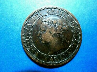 Canada Large One Cent 1890 H Victoria (Limited Mintage--One Million Minted)