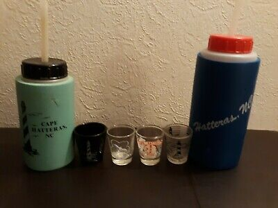 1990 Haterras Vintage shot glasses Drink containers collectible Outer Banks OBX