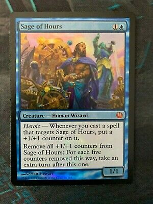 Frontline Sage FOIL Conflux NM Blue Common MAGIC THE GATHERING CARD ABUGames