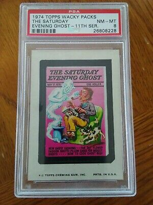1974 Topps Wacky Packages The Saturday Evening Ghost 11th Series PSA 8