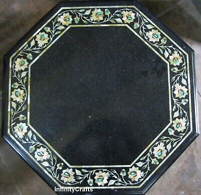 18 Inches Inlay Bed Side Table Top Marble Corner Table MOP Stone Home Furniture