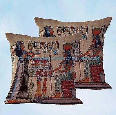 set of 2 Egyptian Ancient Art cushion cover cheap cushion covers