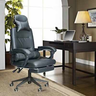 Massage Computer Chair Office Gaming Swivel Recliner Faux Leather Executive Desk