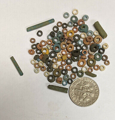 More than a Hundred 2500 Year old Ancient Egyptian Faience Mummy Beads (#L2987)