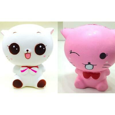 Soft Cartoon Expression Cat Slow Rising Scented Squeeze Toys Stress s2zl
